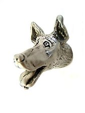Gordon - Small Dog Head Knob by Rosalie Sherman (Metal Knob)