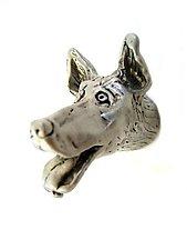 Gordon - Small Dog Head Knob by Rosalie Sherman (Metal Knob)