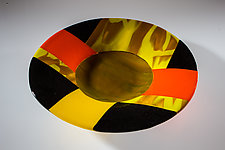 African Summer Art Glass Bowl by Varda Avnisan (Art Glass Bowl)