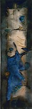 Abstract in Blue by Roberta Ann Busard (Watercolor Painting)