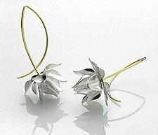 Silver Columbine Earrings by Jayne Redman (Gold & Silver Earrings)