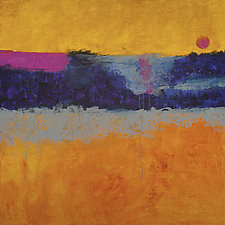 Moon Over Valley by Katherine Greene (Acrylic Painting)