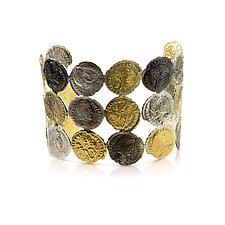 Roman Coin Cuff by Nancy Troske (Gold & Silver Bracelet)