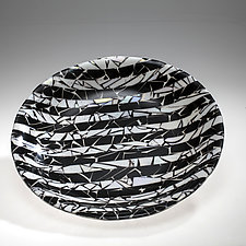 Black and White Bowl by Varda Avnisan (Art Glass Bowl)