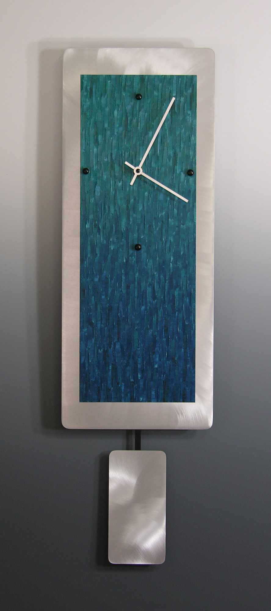 Teal Ocean Blend on Aluminum with Pendulum
