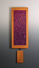 Wine Blend on Copper with Pendulum by Linda Lamore (Painted Metal Clock)