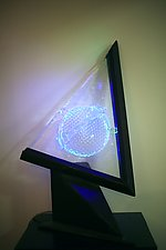 Neon Triangle by Dierk Van Keppel (Art Glass Sculpture)
