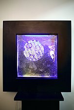 Framed Neon Square by Dierk Van Keppel (Art Glass Sculpture)