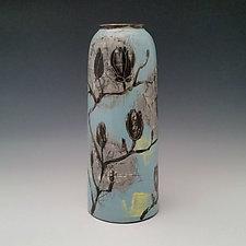 Magnolia Branch Vase by Whitney Smith (Ceramic Vase)