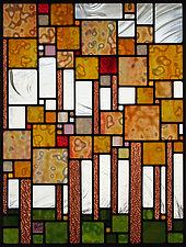 Spring Fling by Josephine A. Geiger (Art Glass Wall Sculpture)