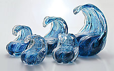 Glass Waves by Michael Richardson, Justin Tarducci and Tim Underwood (Art Glass Paperweight)