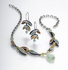 Leaf Eaerrings by Susan Kinzig (Silver, Stone & Polymer Earrings)