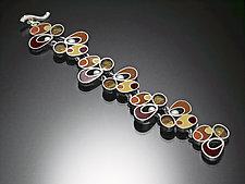 Link Bracelet by Susan Kinzig (Silver, Pearl & Polymer Clay Bracelet)