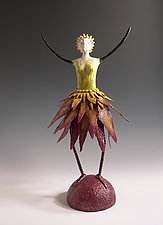 Leafette by Patty Carmody Smith (Mixed-Media Sculpture)
