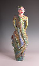 Vessels of Virtue Series-Strength by Patty Carmody Smith (Mixed-Media Sculpture)