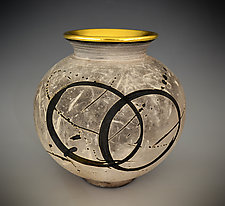 Cosmic Rings by Tom Neugebauer (Ceramic Vase)