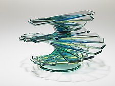 Helix Solid Vase Form #16 by Sidney Hutter (Art Glass Sculpture)
