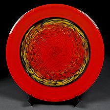 Rhythmic Red by Eric Bladholm (Art Glass Platter)
