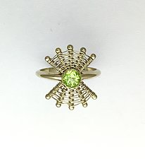 Totem 14K White Gold Ring with Peridot by Marie Scarpa (Gold & Stone Ring)