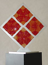 Four Red Squares by Dierk Van Keppel (Art Glass Sculpture)
