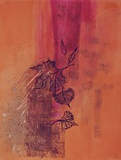 Fallen Leaves 3 by Sandra Humphries (Monotype Print)