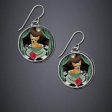 Frenchie Earrings by Dawn Estrin (Silver Earrings)