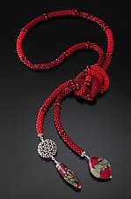 Red Lariat by Sher Berman (Beaded Necklace)