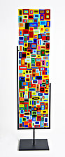 Large Carnival Floor Panel by Helen Rudy (Art Glass Sculpture)