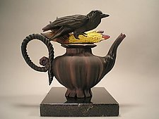 Crow Corn Tea by Nancy Y. Adams (Ceramic Teapot)