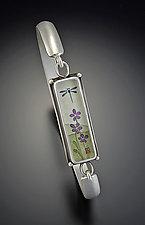 Dragonfly Cuff Bracelet by Ananda Khalsa (Silver Bracelet)