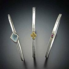 Stacked Gemstone Bangles by Ananda Khalsa (Gold, Silver & Stone Bracelets)