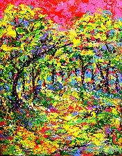 Pink Sky by John E Metcalfe (Acrylic Painting)
