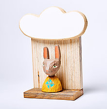 Rabbit Mini by Amy Arnold and Kelsey  Sauber Olds (Wood Wall Sculpture)