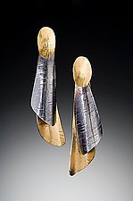 Curly Bark Earrings 1 by Lori Gottlieb (Gold & Silver Earrings)