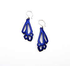 Long Geometric Earrings by Joanna Nealey (Enameled Earrings)