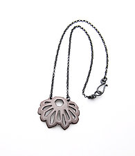 Fan Crystalline Necklace by Joanna Nealey (Enameled Necklace)