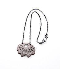 Fan Crystalline Necklace by Joanna Nealey (Enameled Necklace)