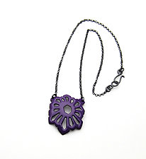 Square Crystalline Necklace by Joanna Nealey (Enameled Necklace)