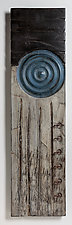 Poppies in Blue by Kipley Meyer (Wood Wall Sculpture)