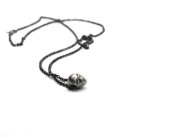 Tiny Gray Lady Necklace