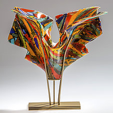 Color Explorations by Varda Avnisan (Art Glass Sculpture)