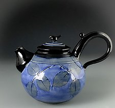 Bluebird Teapot by Suzanne Crane (Ceramic Teapot)