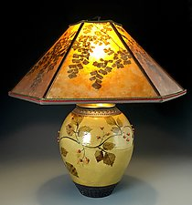 Woodlands Lamp in Amber by Suzanne Crane (Ceramic Table Lamp)