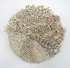 Grounded Flow by Regina Farrell (Ceramic Wall Sculpture)