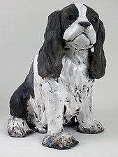 King Charles Cavalier Spaniel by Ronnie Gould (Ceramic Sculpture)