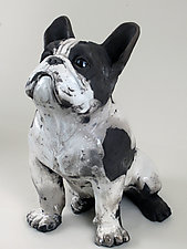 French Bull Dog by Ronnie Gould (Ceramic Sculpture)