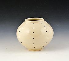 Small Round Vase 2 by Marilee Schumann (Ceramic Vase)