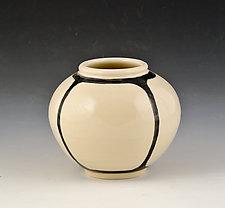Small Round Vase 3 by Marilee Schumann (Ceramic Vase)