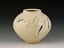 Medium Round Vase 2 by Marilee Schumann (Ceramic Vase)