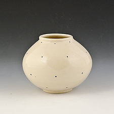 Medium Round Vase 3 by Marilee Schumann (Ceramic Vase)